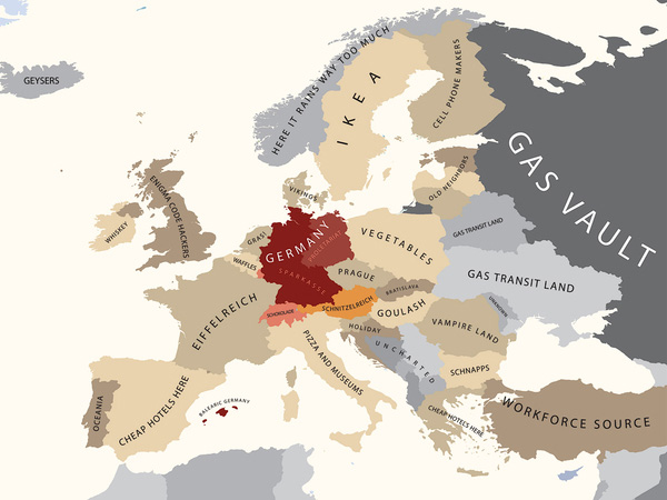 483 the great european shouting match big think the colour toning of this map binds germany to its linguistically related neighbours ie luxembourg switzerland and austria since world war two sciox Image collections